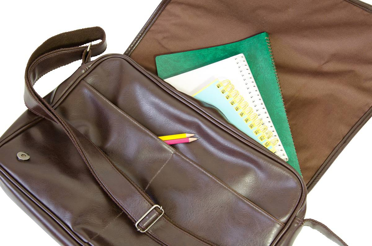 organized messenger bag